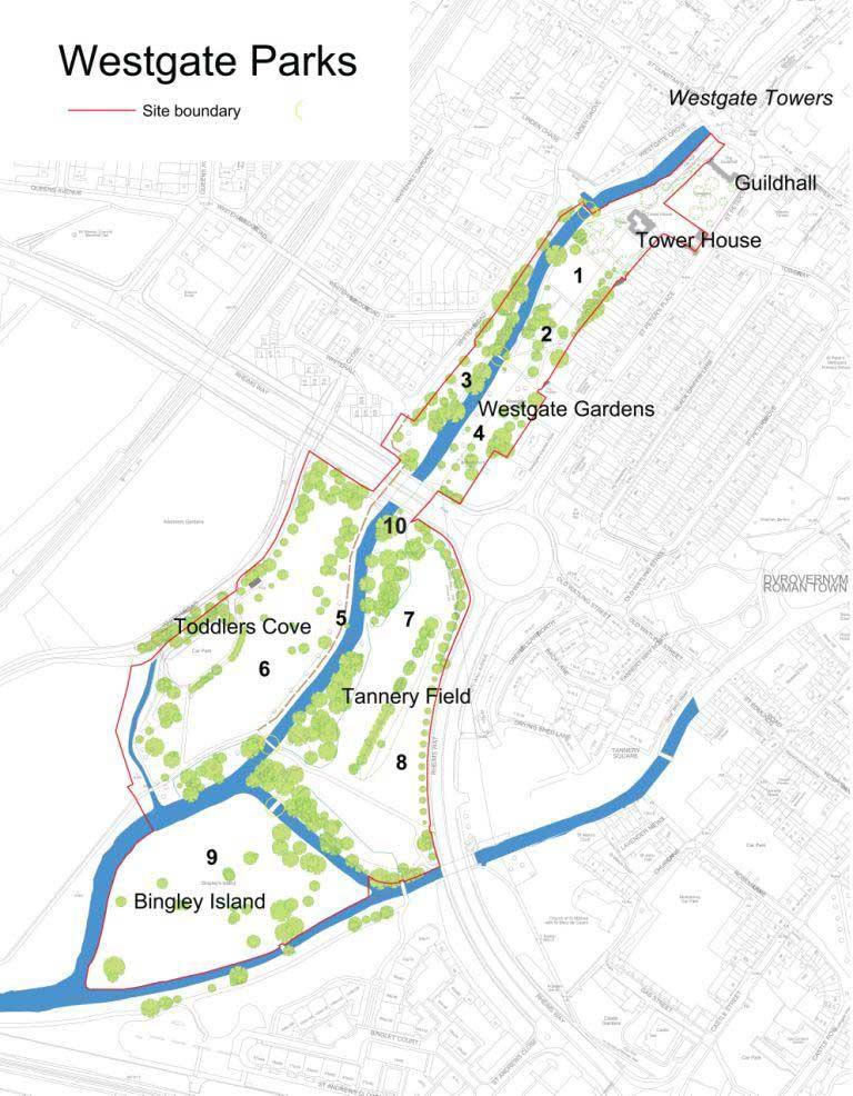 Westgate Parks Map